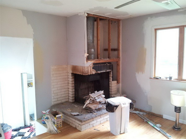 How To Remove A Fireplace And Chimney