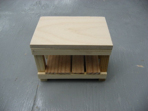 7 - plywood top