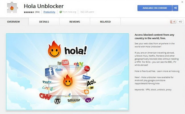 Chrome Web Store - Hola Unblocker