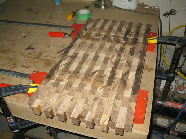 Custom Cutting Board gluing done
