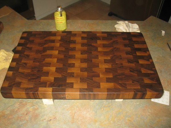 Custom Cutting Board oiled