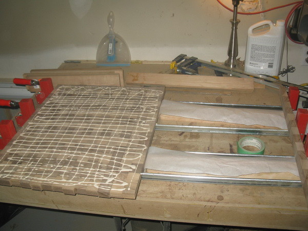 Custom Cutting Board second gluing operation to expose the end grain