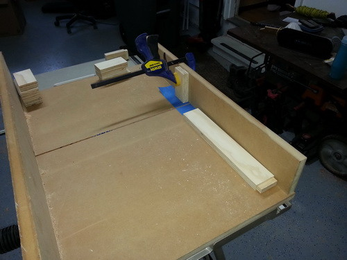 Cutting the legs on the table saw