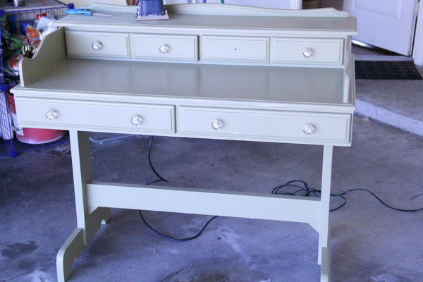 DIY Refurbished Repainted Desk Project - Before Picture