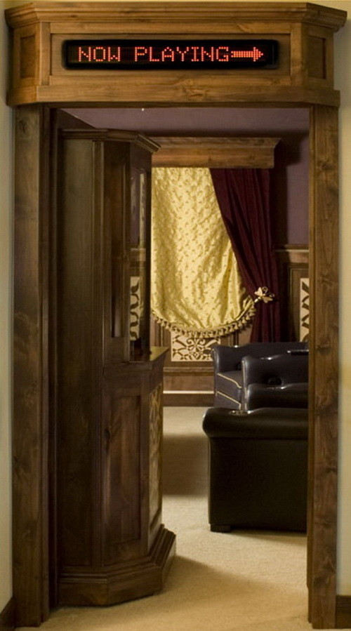Creative Concept Home Theater Ticket Booth Door For Your Home