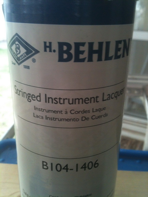 Lacquer Time with the proper stuff for instruments