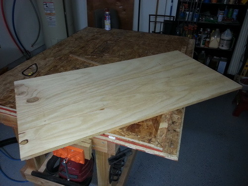 left over plywood we are going to use for our tables