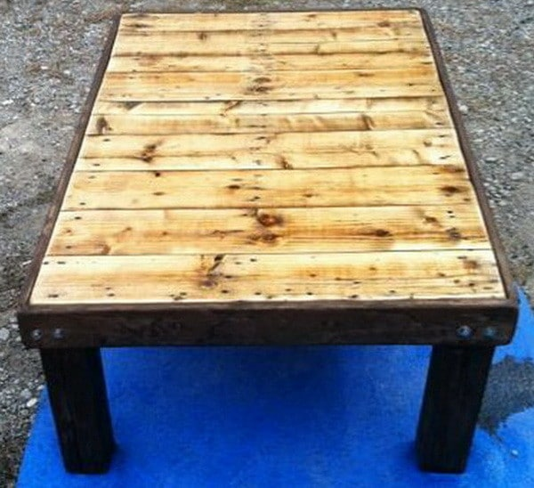 How to make a coffee table out of a wooden pallet easy low cost diy - How to make table out of wood pallets ...