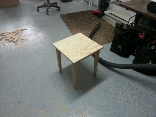 Table before paint