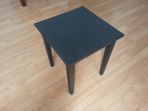 Tables are finished and added a few coats of Minwax spray with satin finish