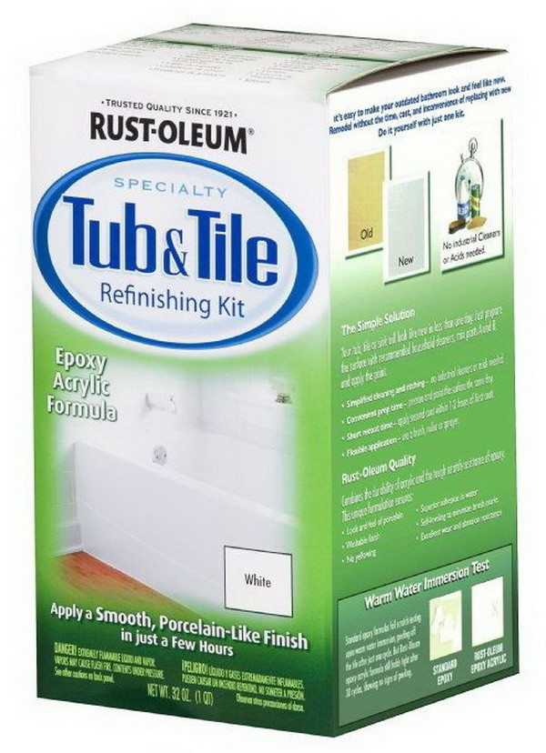 Tub And Tile Refinishing 2-Part Kit