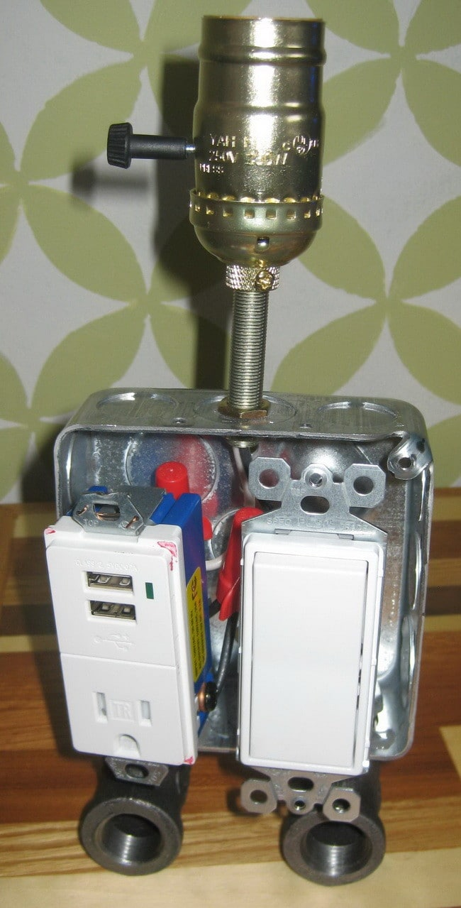 Build A Lamp Combo Usb Charger Easy Fun Diy