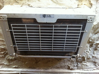 fix window mounted air conditioner back view