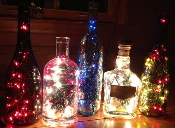 How To Make a Lamp Out Of An Old Bottle Easy Fun DIY ...