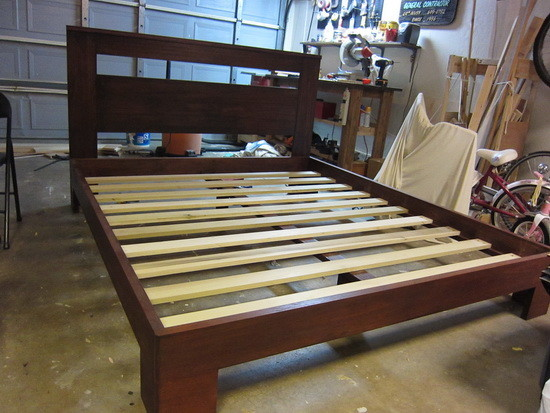 How to build a beautiful custom bed frame for under 300 for Make your own bed frame ideas