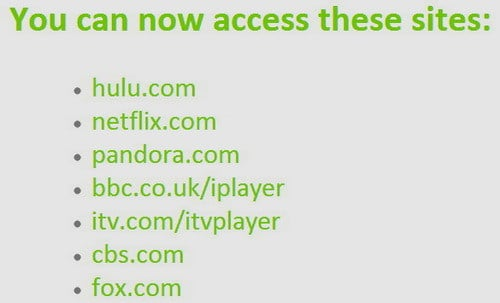 hola gives access to all these websites to stream video