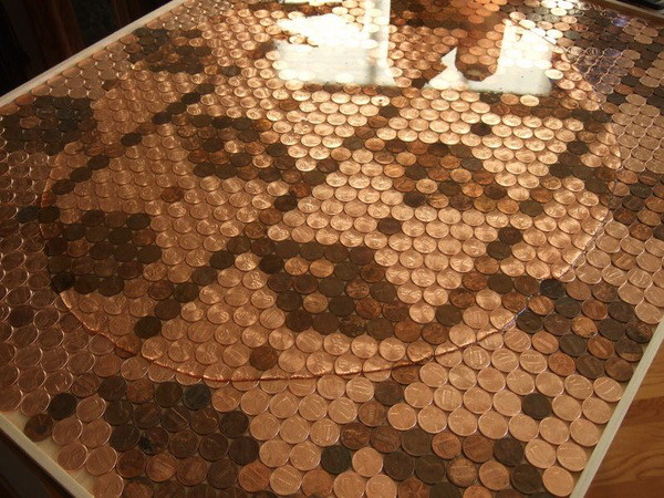 Kitchen Backsplash diy Pennies