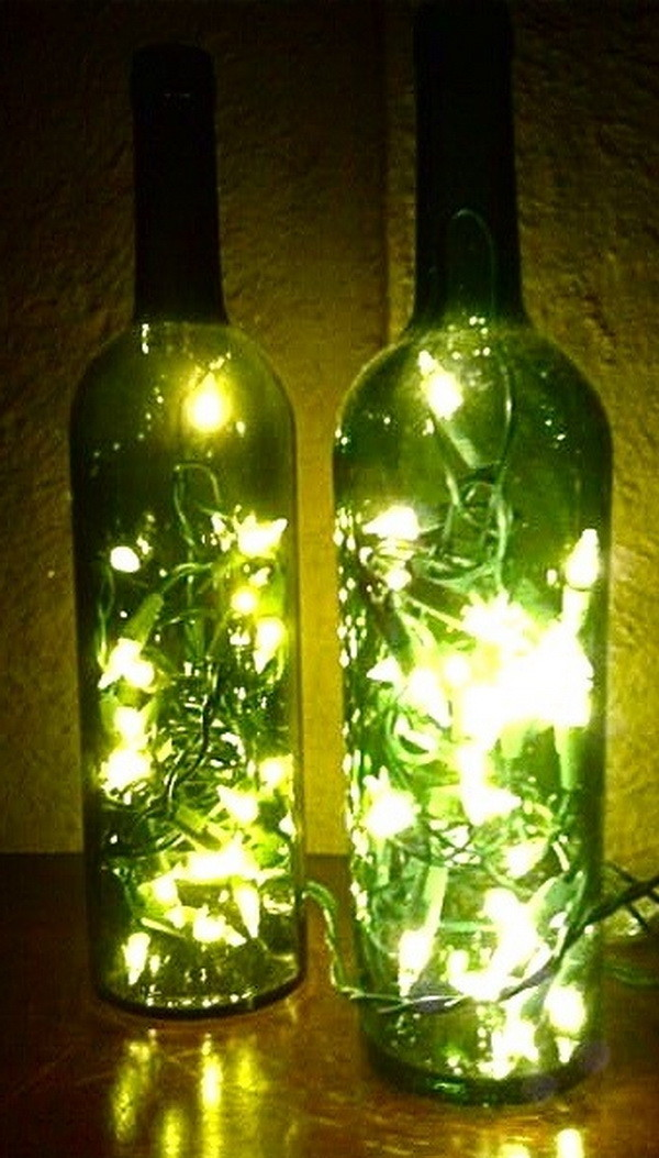 make lamps out of wine bottles