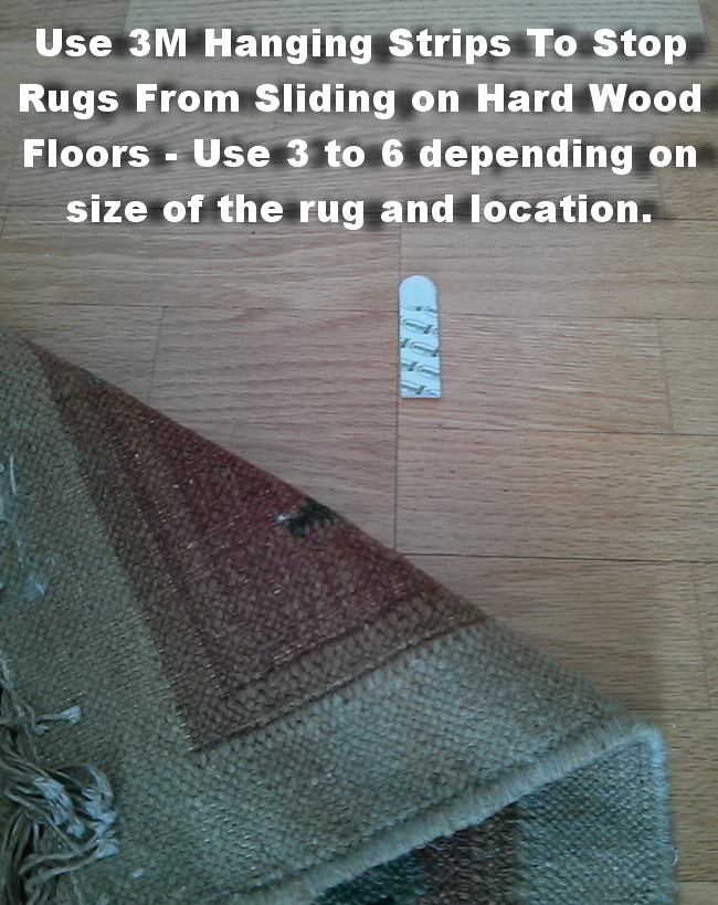 prevent rug from slipping on hardwood floors