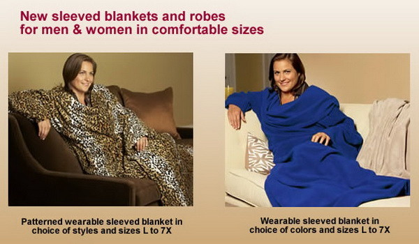 sleeved blankets for larger people