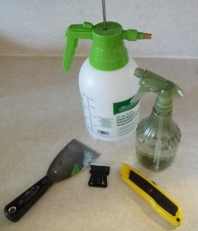 spray the ceilings with a water bottle