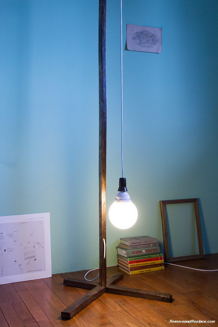 elegant diy lamps created for under 50 dollars using recycled parts. Black Bedroom Furniture Sets. Home Design Ideas