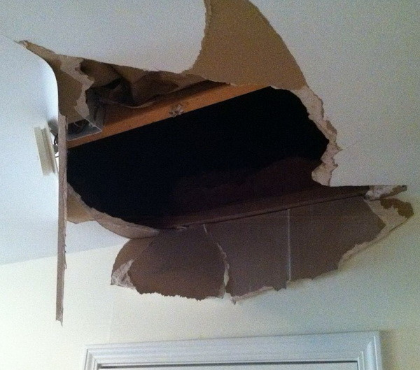 How to fix hole in ceiling