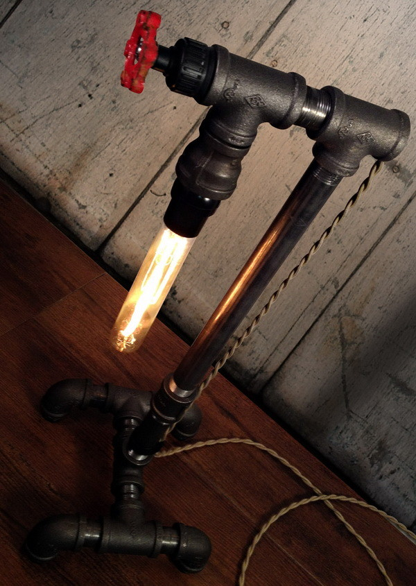 Build An Inexpensive Diy Plumbing Pipe Fittings Desk Lamp