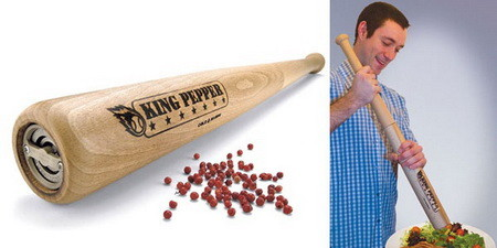 Baseball Bat Pepper Grinder