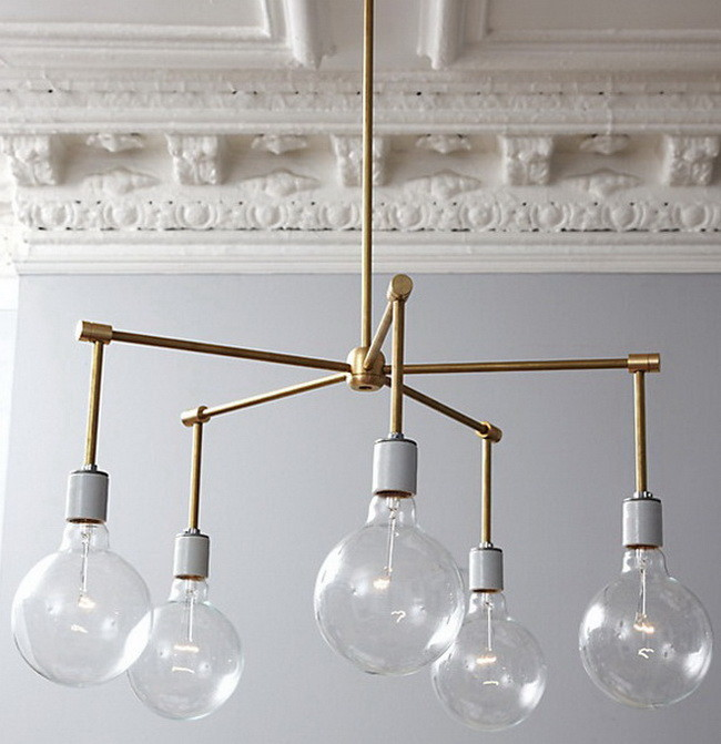 Do It Yourself: a Chandelier with Wood and Spoons