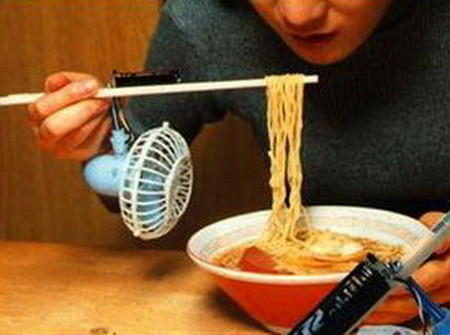 The Noodle Cooling Fan with Chopsticks