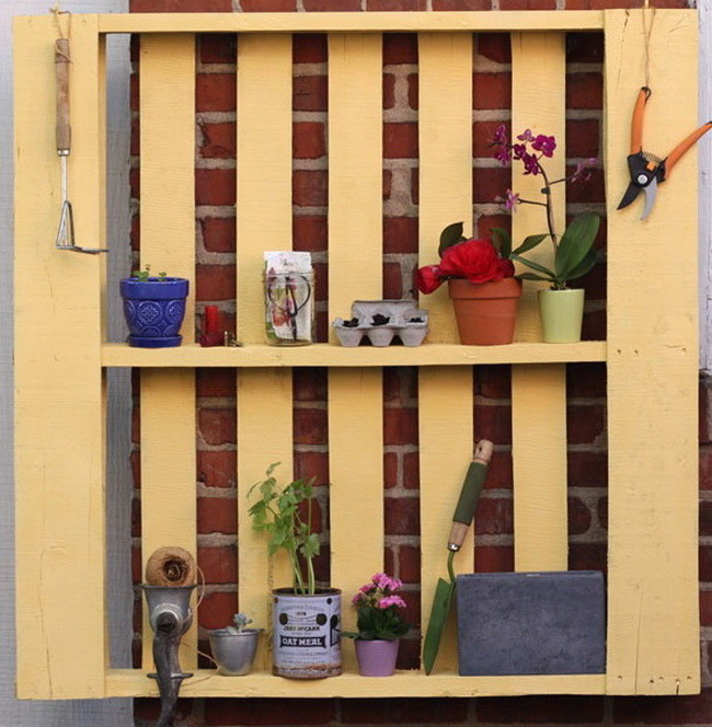 Transform a pallet into pretty storage