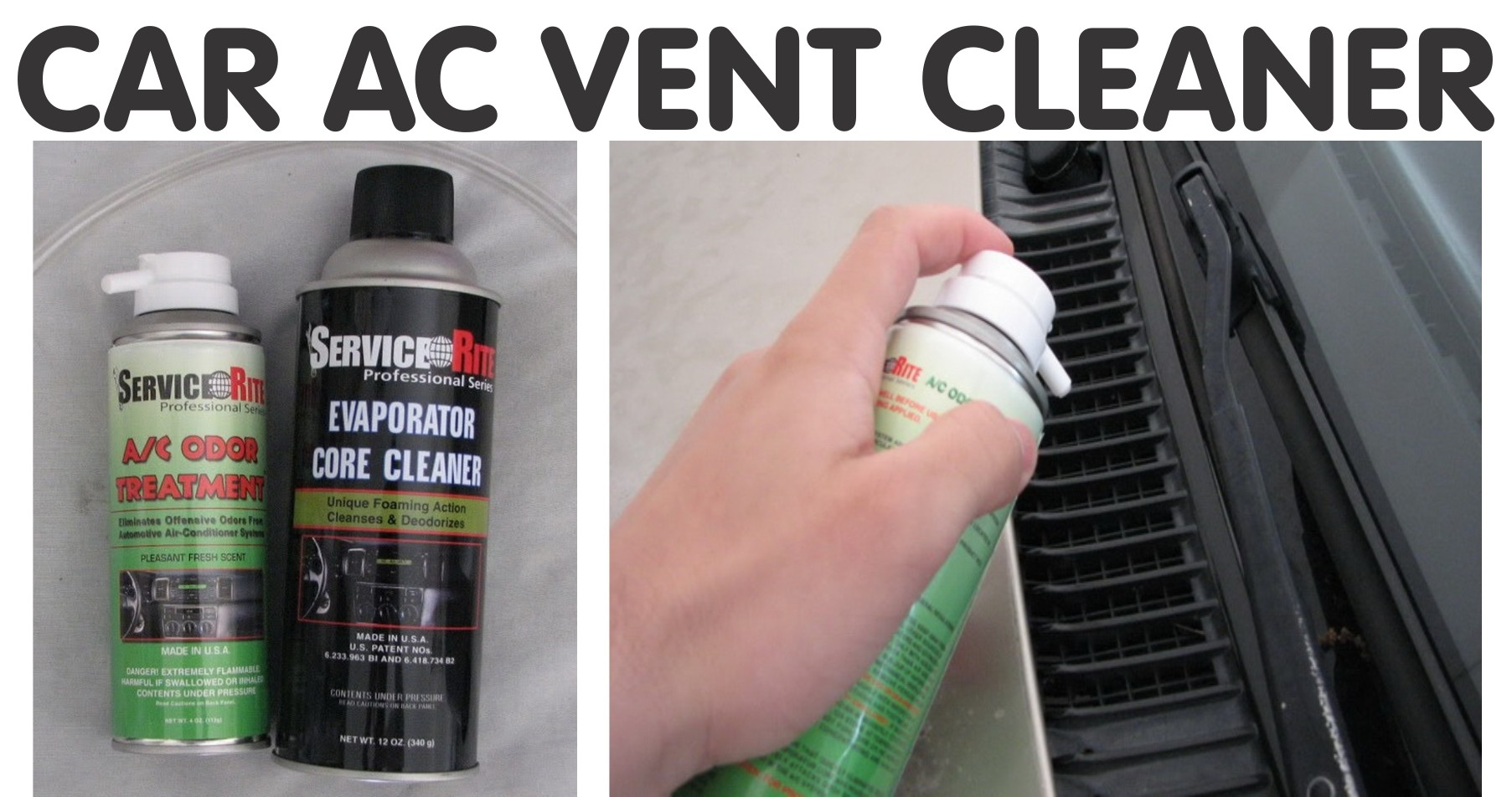 ac vent cleaner odor spray for car