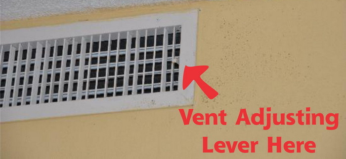 adjust home ac vent to save money