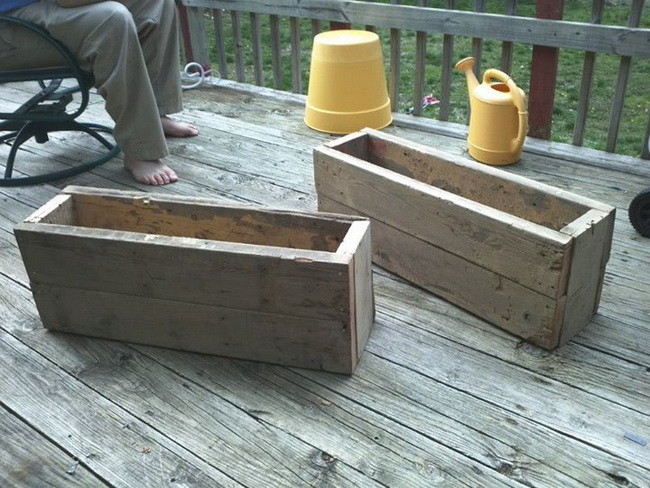 how to make a wood planter
