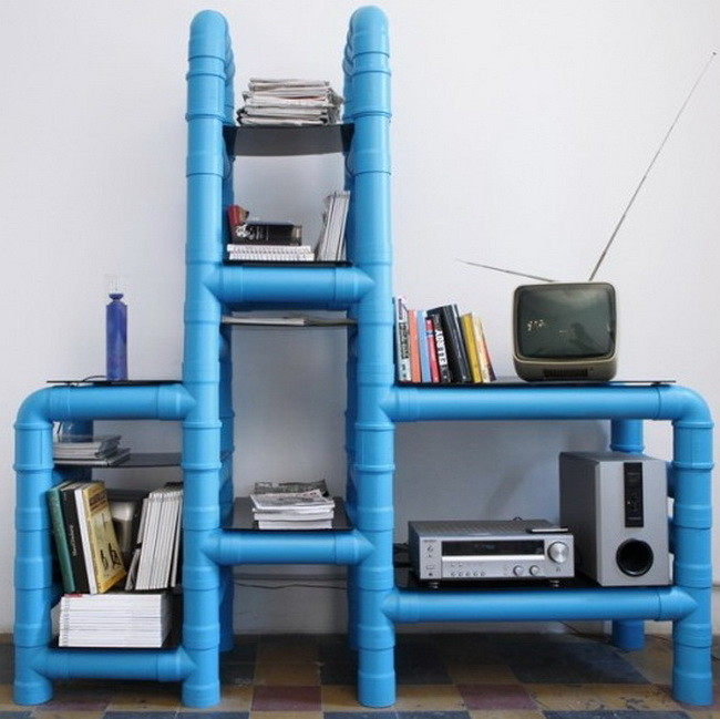 diy pvc pipe shelving