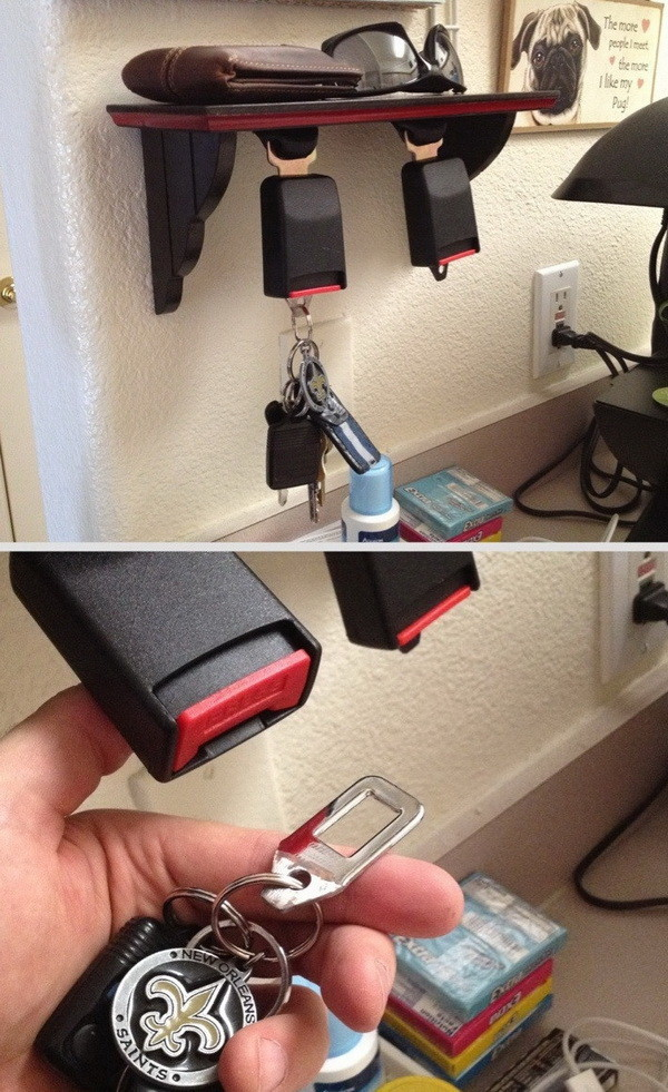 diy seatbelt key holder