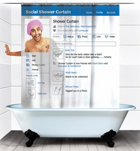 The Facebook Shower Curtain