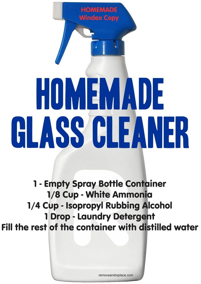 homemade windex glass cleaner