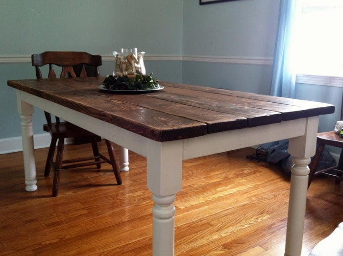 how to build a vintage dining room table_11