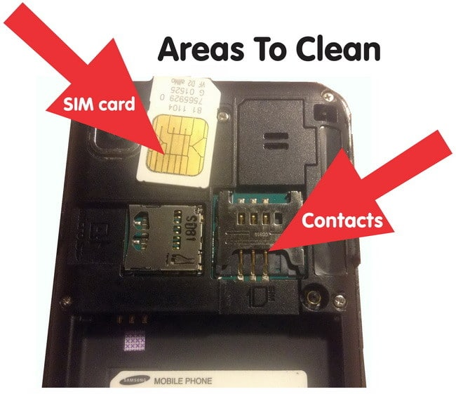 how to clean sim card on phone