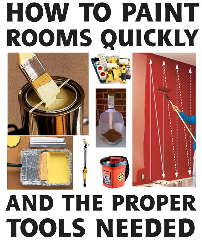 How To Easily Paint A Room With A Roller And Brush - Tips ...