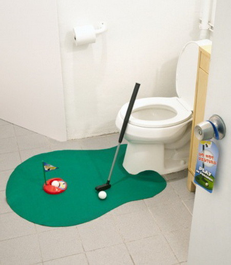 Toilet Tee Time - Golf On The Toilet