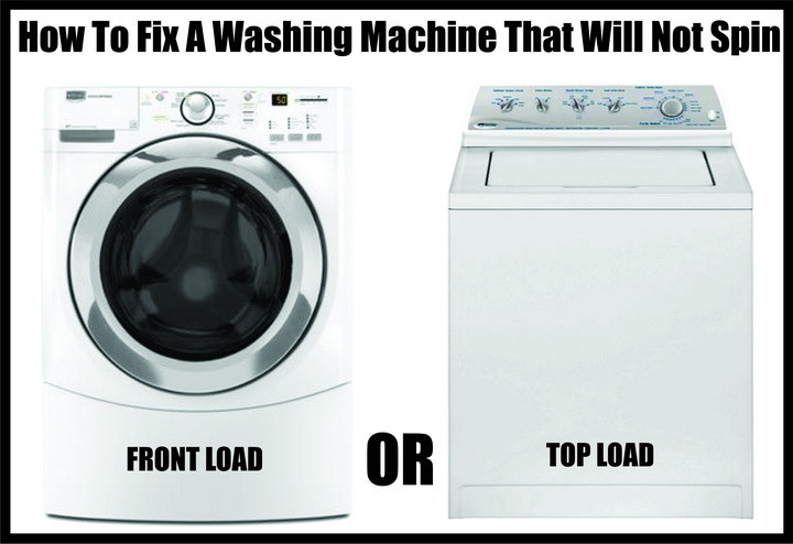 washing machine will not spin or drain