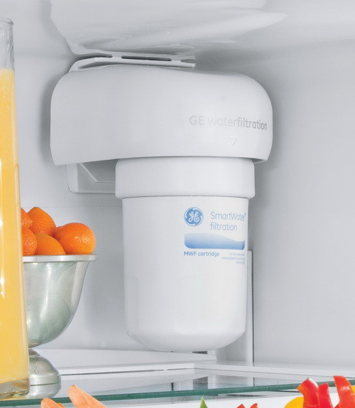water filter replace inside refrigerator