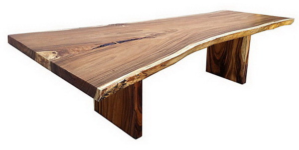 wood bench seat made from cut logs
