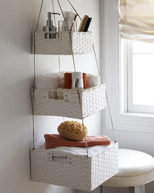 Unique Window Box Bathroom Storage Perfect For A Small Bathroom