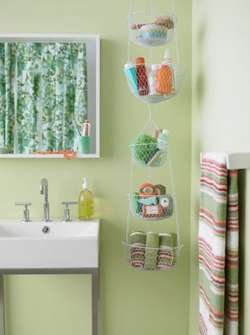 Bathroom organizing storage ideas 33