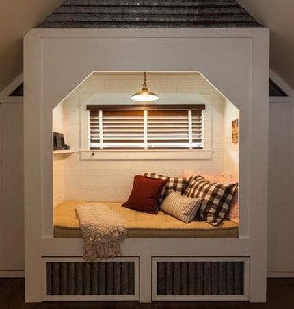 Built in sleeping nook