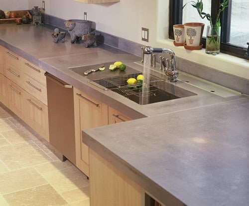 Concrete countertop ideas and examples part 1 of 2 for Kitchen countertop designs ideas